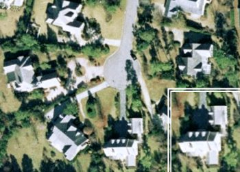 Maison Sophia Bush et Chad Michael Murray - Vue satellite